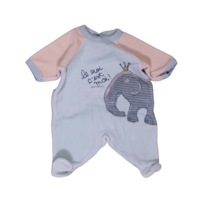 ea965d604382c Pyjama 1 pièce bébé garçon PETIT BATEAU Naissance violet hiver - vêtement  bébé  1045570