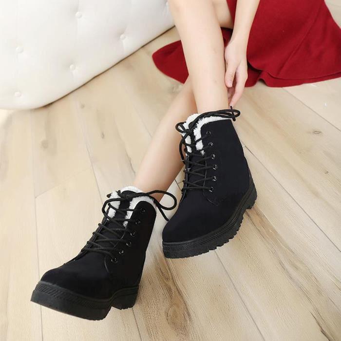Nouvelles chaussures chaudes des femmes classiques bottes de neige mode hiver courtes bottes qtqJhT