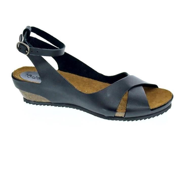 modèles à la mode super pas cher se compare à dessin de mode Sandales - Kickers 609540-50-8 Femme Noir Noir Noir - Achat ...