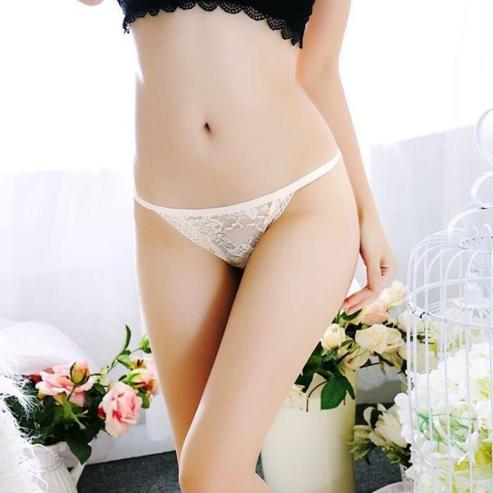beige string Slip Femmes Free Thongs Culotte Sous Dentelle G vêtements Lingerie znq6Uw