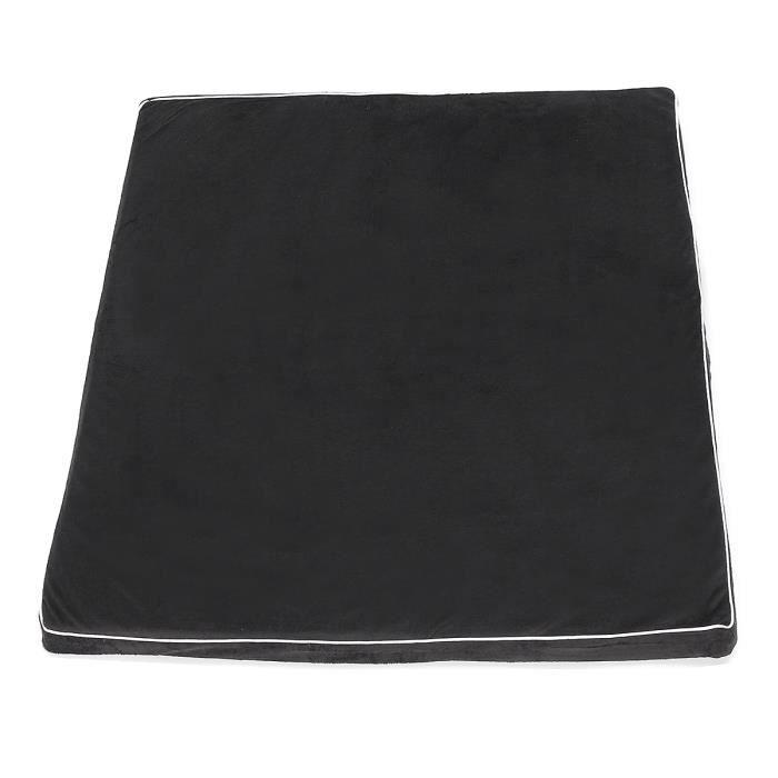 Tempsa Chien Chat Matelas Coussin Tapis Lit Chenil Lavable En Eponge Tissu Oxford Noir Doux Antidérapant 105*65*5cm
