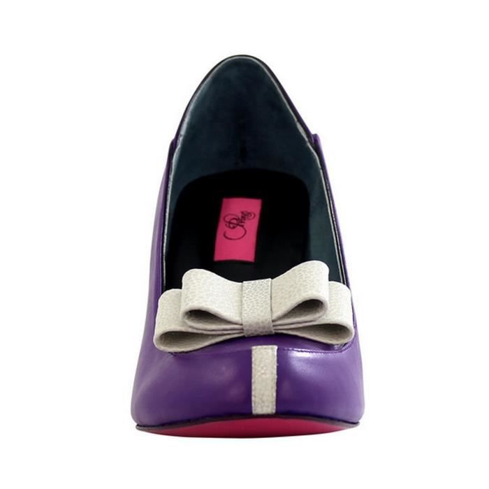 Chaussure femme en cuir BOW HIGHT Violet