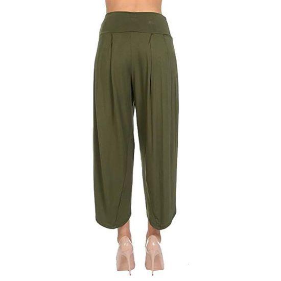 ... à Pantalon larges femmes jambes Pantalon larges rww3268 fluide à pour  jambes large YLL80626521GN vert FwqY8HY 0afd3532962f