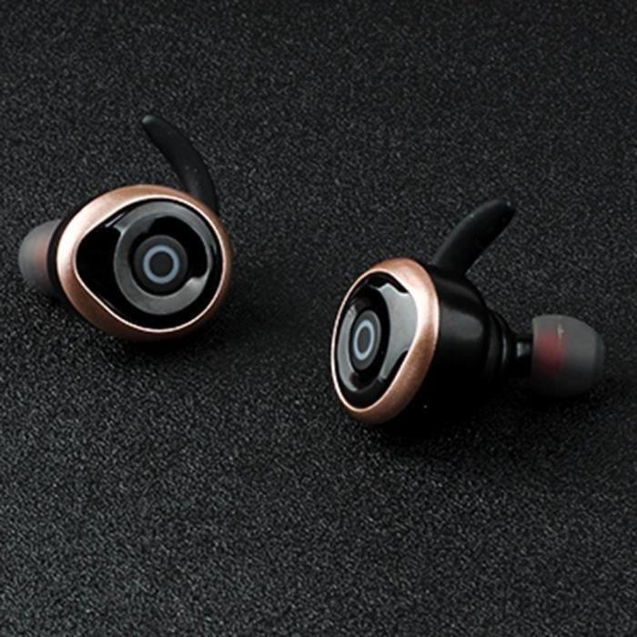 Awei Tws 1 Paire D'écouteurs Sans Fil Bluetooth Ipx Écouteurs Étanches (or)
