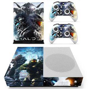 JOYSTICK JEUX VIDÉO Halo 5 Xbox One S Console Slim (XB1-S) Contrôleurs