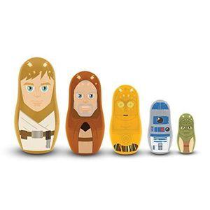 DÉCORATION VÉHICULE STAR WARS - Jedi & Droids 5 Piece Nesting Doll Set