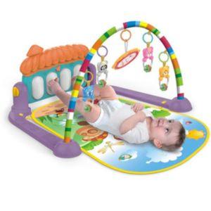 JOUET TAPIS piano à pédales pour bébé de 0 à 36 mois style de champignon  475x385x90mm