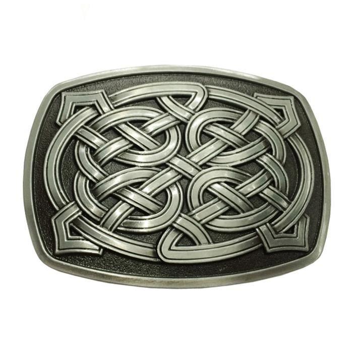 da1ed4a236f nouveauté classique rectangle celtique motif boucle de ceinture western  cowboy rodeo