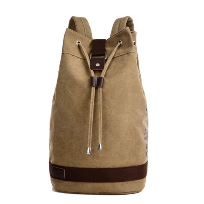 sac à dos en toile hommes de grande capacité Casual Sacs de pour les hommes Vintage Sacs Adolescente Mochila Bucket école-1899