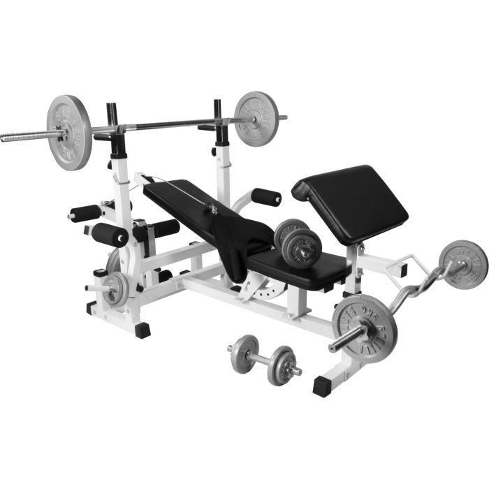 Gorilla Sports Banc De Musculation Universel Gs005 Set Haltères