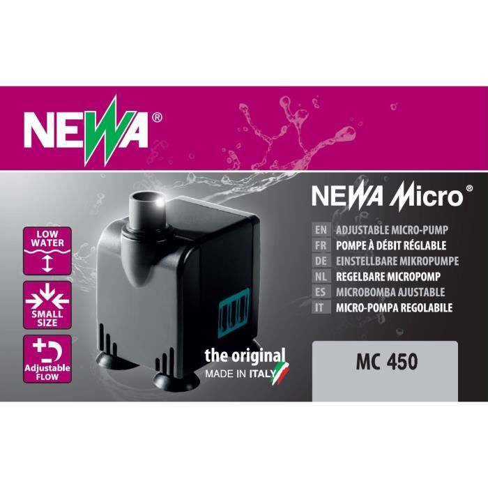FILTRATION - POMPE NEWA Pompe Micro-Jet 450 Mc450 - Pour aquarium