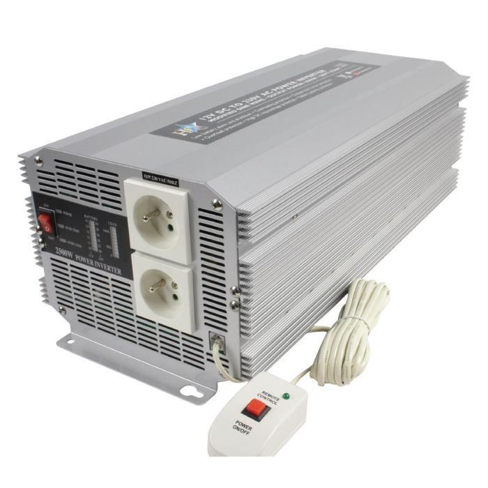 ALIMENTATION HQ Convertisseur 2500 W 12 V en 230 V