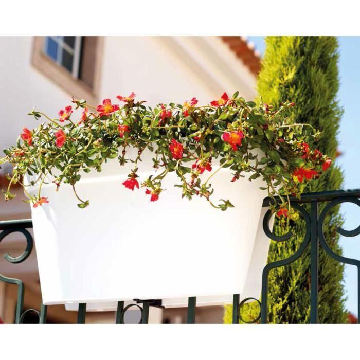 Jardinière pot fleur pot de fleurs encastrable au balcon capri vert 60x