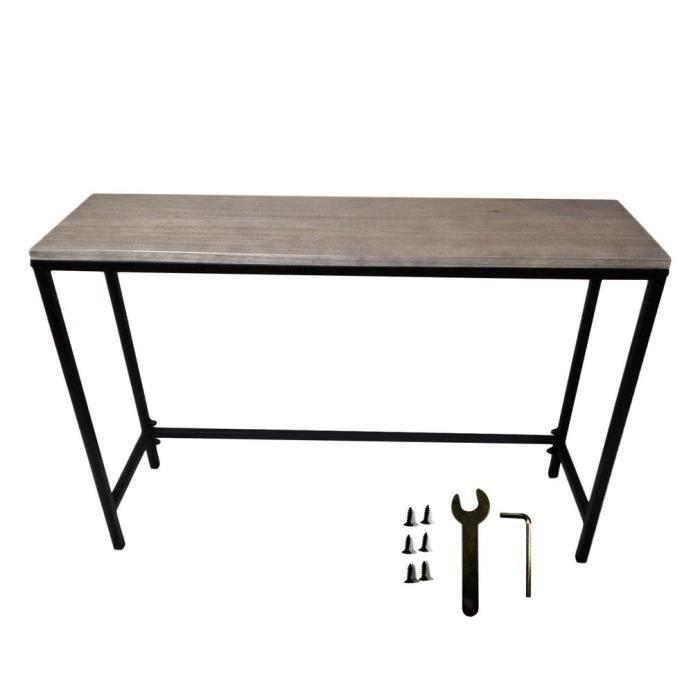 Table D Entree Console De Couloir Style Industriel Bois Et Metal