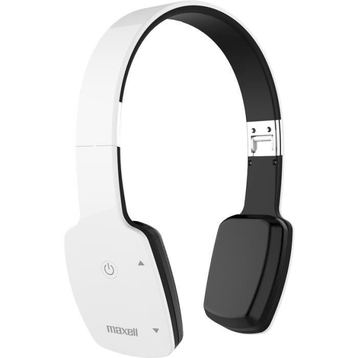 Casque Bluetooth Sans Fil Mxh Bt1000e Blanc