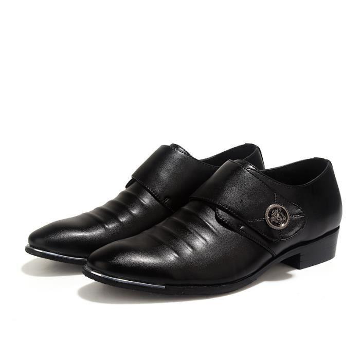 Mocassins noirs en cuir pour homme Chaussures confortables et légères