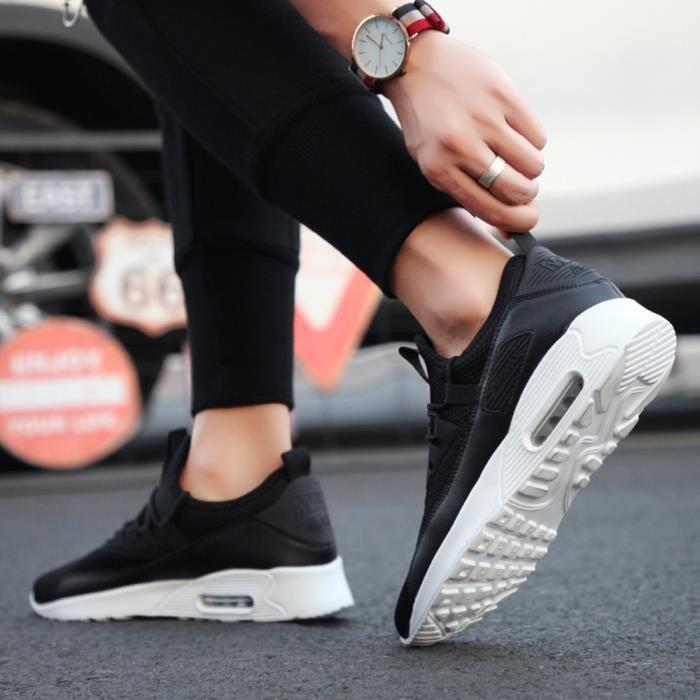 Lqt81021604bk L'usure Hommes Sport Lace Plates up Respirant Résistant Casual Sneaker À Noir Chaussures Mesh CqCwOgT
