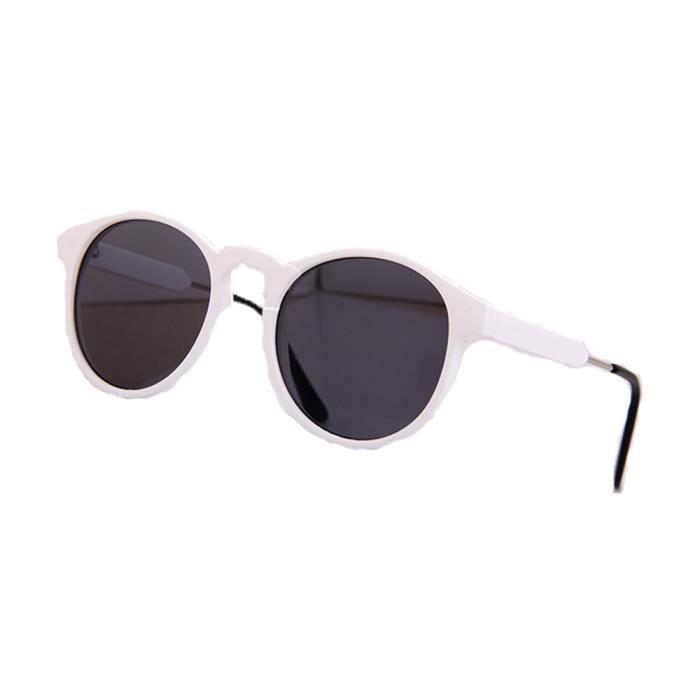ronde Vintage Rétro de Lunettes UV400 SHINA blanc Pour Femmes soleil gwZSwO1Iq