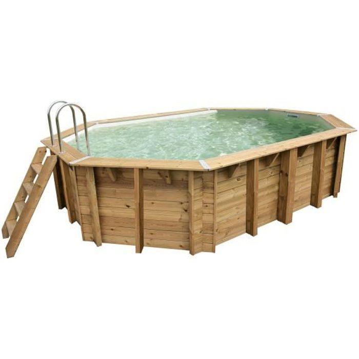 Ubbink piscine ovale en bois maldives 490x300x120cm - Piscine bois classe 5 ...