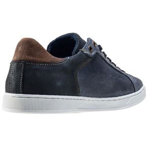 Mustang 3-tone Washed Low Hommes Baskets Blue - 46 EU bL62A