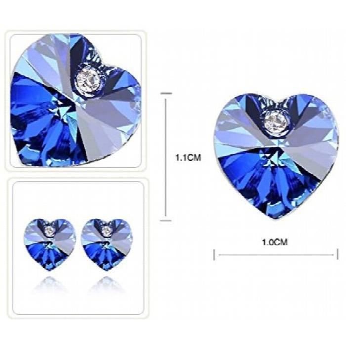 Womens Crossed Hearts Rhodium Plated Crystal Studded Alloy Earrings For AndRUFY6