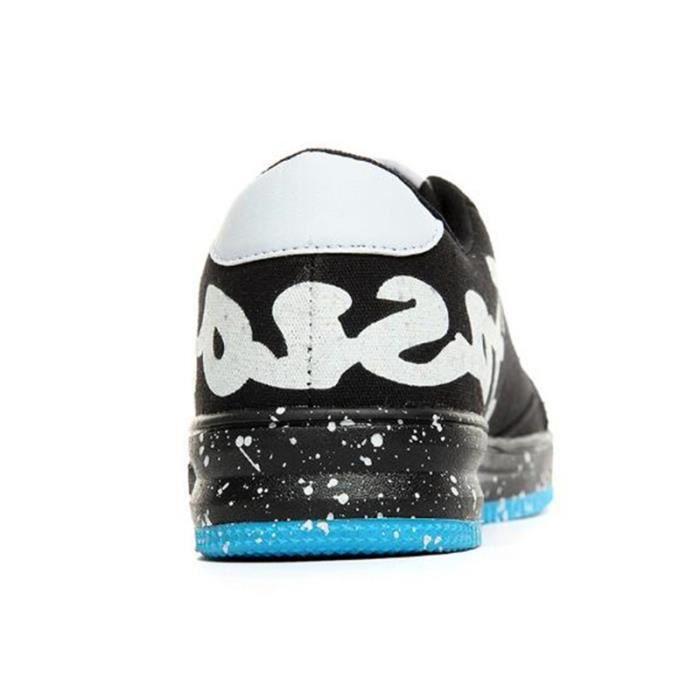 Chaussures De Sport Pour Hommes en daim Textile De Course Populaire BBDG-XZ124Bleu39 hplK6lTDse