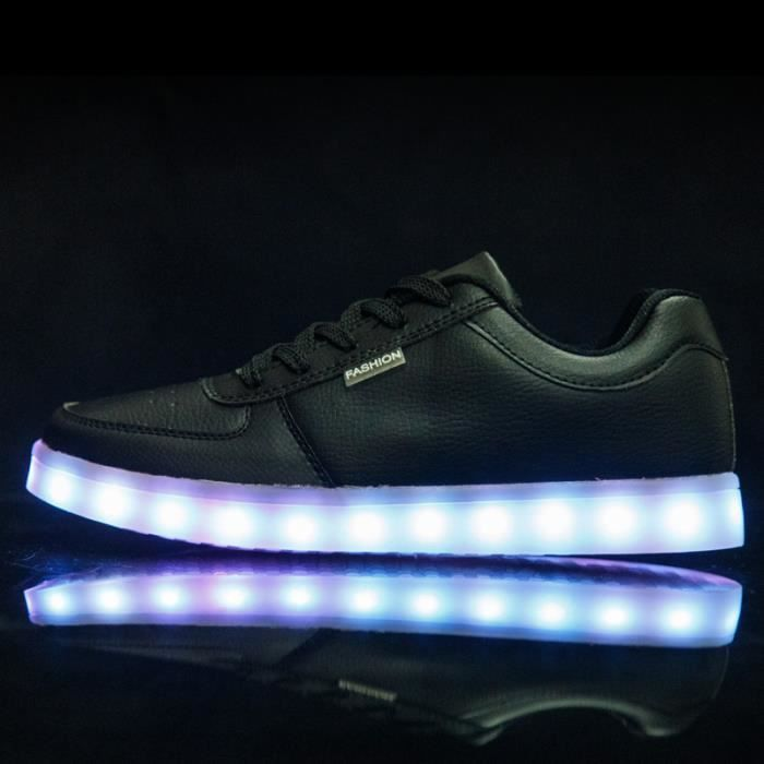 Chaussures LED Femme Homme USB Rechargeable 8 C...