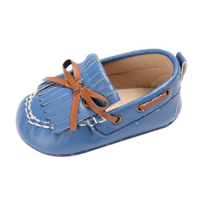 BOTTE Chaussures de bébé garçon fille nouveau-né cuir crèche chaussures à semelle souple@Jeunesse tibétaine