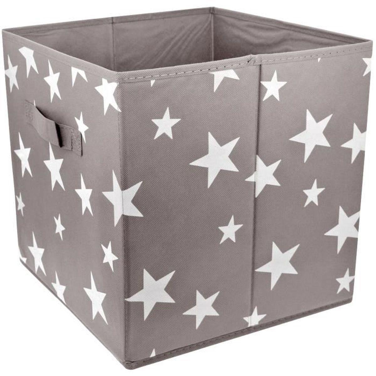 cube panier de rangement pliable avec poign e d co etoile. Black Bedroom Furniture Sets. Home Design Ideas