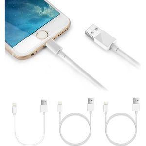 CÂBLE RÉSEAU  3pcs Câble Lightning vers USB Data Chargeur 3ft x