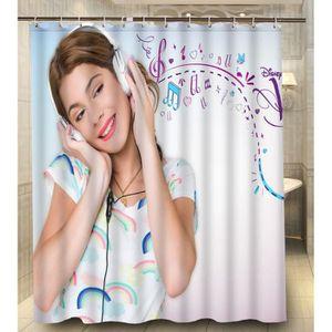 Violetta rideau achat vente violetta rideau pas cher - Rideau pour salle de bain ...
