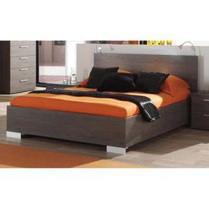 STRUCTURE DE LIT Lit 140x200 cm avec tête de lit intégrée coloris c