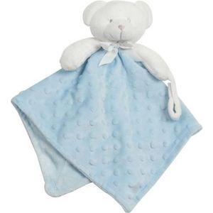 DOUDOU Doudou pour bébé King Bear à pois 3D avec attache