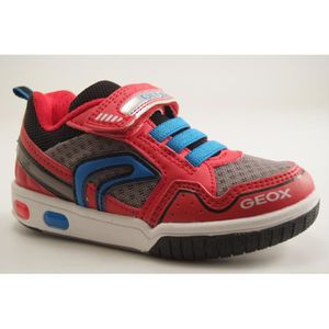 1e96813c810d BASKET GEOX Enfants-J GREGG B-TRAINING VELCRO-ROUGE. Chaussures pour ...
