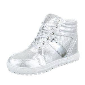 femme chaussures décontractées chaussure semelle compenséeWedges Baskets botteette rose or U83V6