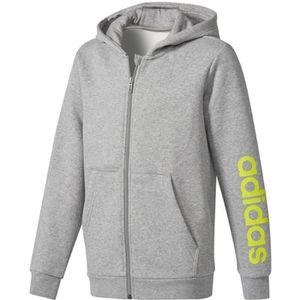 BLOUSON MANTEAU DE SPORT Adidas Performance Veste Yb Linear Fz Hd Gris Vest 4cb20487326f