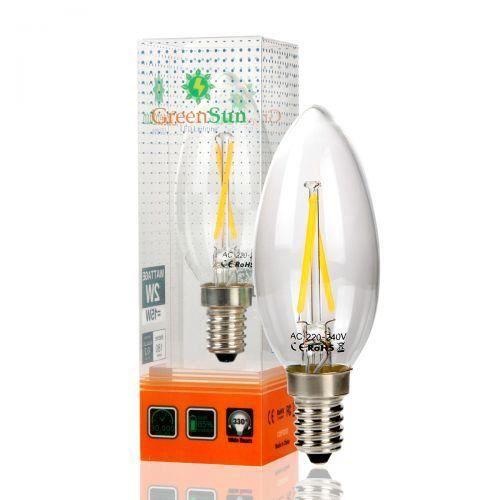 PROJECTEUR   LAMPE GreenSun 4Pcs LED E14 2W Ampoule Lampe Filament Lu