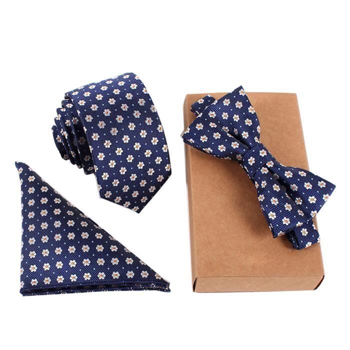 bien pas cher le rapport qualité prix divers styles Jelinda Cravate - Pochette - Nœuds Papillon Lot de 3 Pièces Coffret