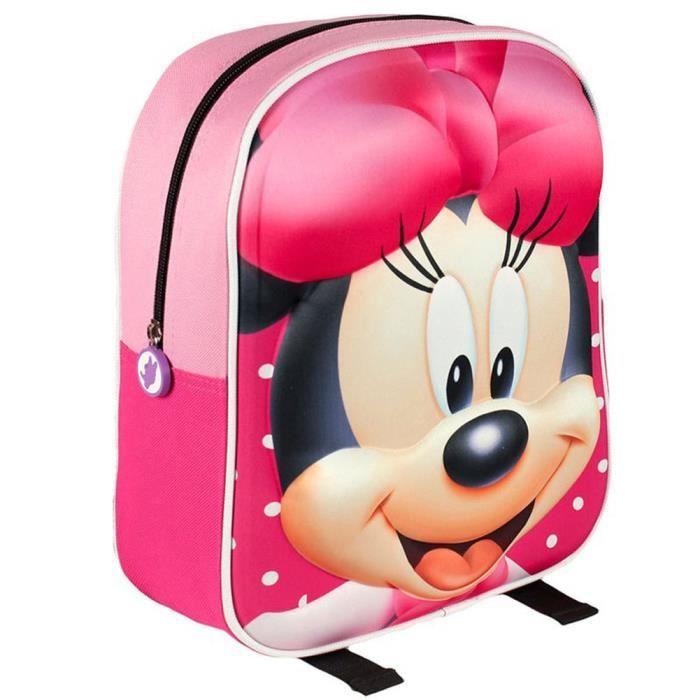 MINNIE - Sac à dos garderie 3D 31cm Minnie ROSE