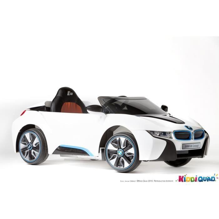bmw i8 licence blanc voiture lectrique enfant 12v achat vente voiture enfant cdiscount. Black Bedroom Furniture Sets. Home Design Ideas