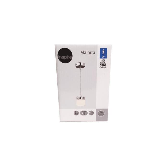 LUSTRE ET SUSPENSION Suspension Malaita INSPIRE blanc 40 watts
