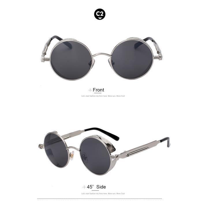 b59da756be36ad série métal lunettes steampunk hommes femmes fashion lunettes rétro vintage  concepteur uv400 marque de lunettes de soleil