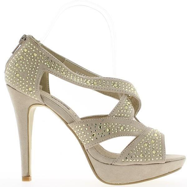 Sandales beiges à talons de 12 c...