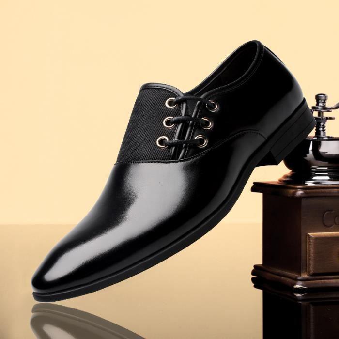 Chaussures en cuir de mode pour homme noir BhUg02TJ