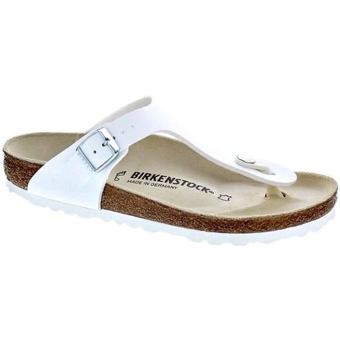 Birkenstock Gizeh BF Blanc - Chaussures Sandale Homme