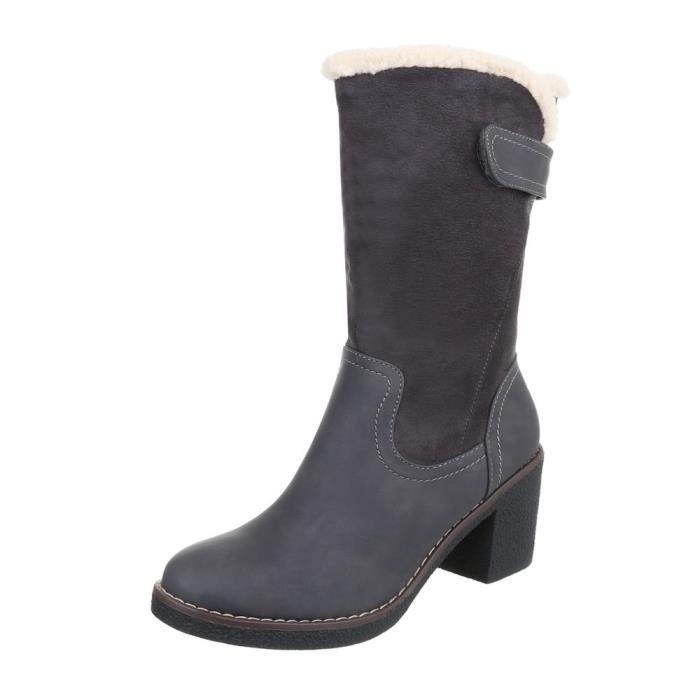 chaud doublée femmes hiver bottes | fausse fourrure bottes confortable | Art fourrure Boots | Demi-bottes | Robuste bottes |