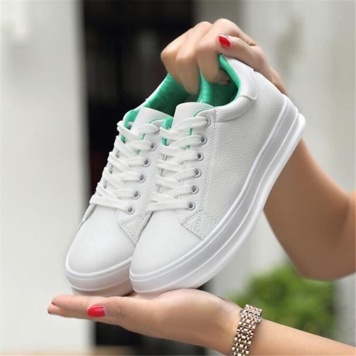 Chaussure femme Nouvelle arrivee De Marque De Luxe Grande Taille Sneakers Haut qualité 2017 Chaussures épaisses