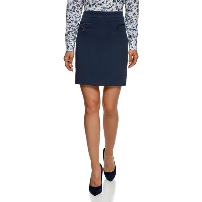 Skirt With Women's Zippers 40 Decorative 3yj886 Taille Straight kTPOZiuX