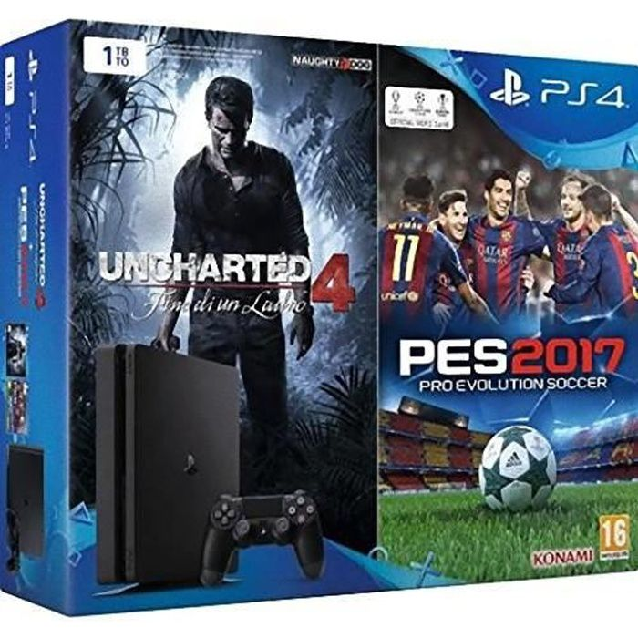 console sony ps4 1tb chassis d uncharted 4 pro. Black Bedroom Furniture Sets. Home Design Ideas