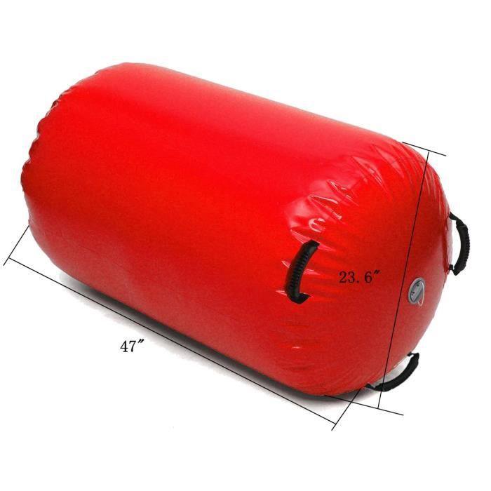 TEMPSA Piste Gonflable Tumbling Cylindre Air Colonne Exercice Entraînement Gymnastique ROUGE